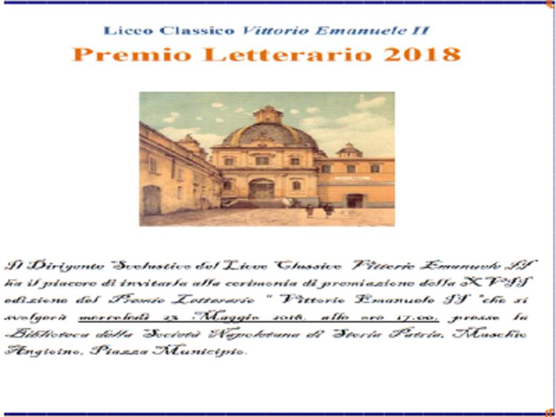 Premio Letterario 2018